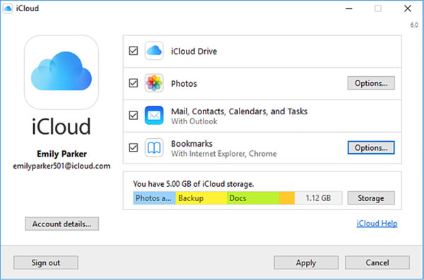 enable-icloud-on-windows