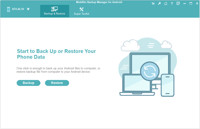 launch android backup and restore