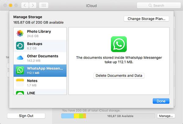 how to check icloud whatsapp backup on mac