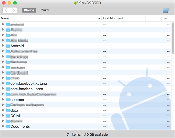 backup android to mac with android file transfer