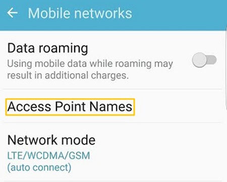 check apn settings on android