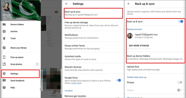 transfer files from google pixel to computer via google account