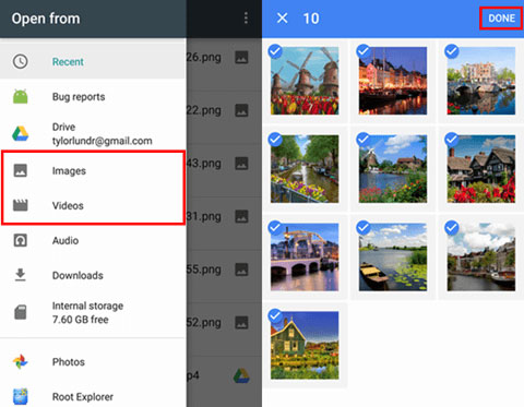 back up android photos to cloud