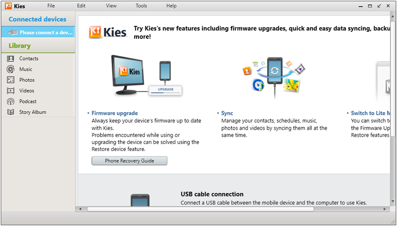 Backup Contacts on Samsung Using Kies