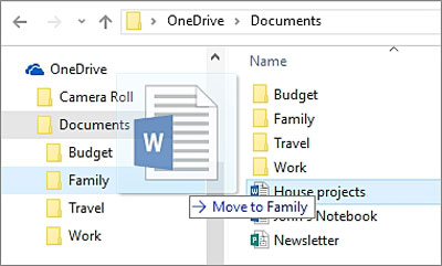 move files to onedrive