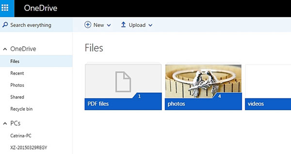 backup files to onedrive with website