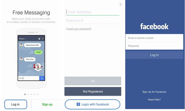 carry over line account with facebook