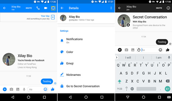 how to change paragraph in facebook messenger