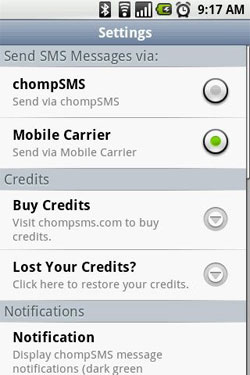 send a mass text on android with chompsms