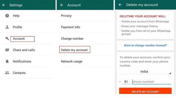 remove whatsapp account