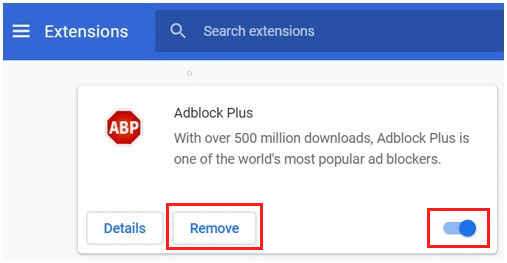 turn off ad blockers for google