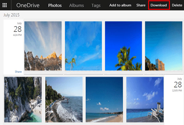 download photos from onedrive to pc
