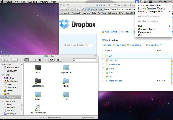 transfer from android to mac via dropbox