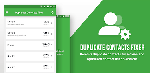 how to remove duplicate contacts from android phone via dedicated app