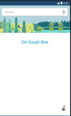 switch google now on
