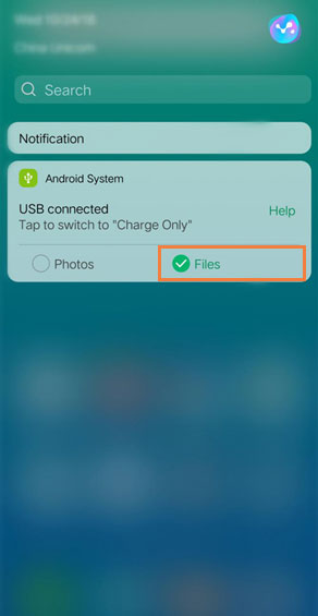 choose files from notification