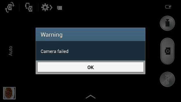 how to fix camera failed on samsung
