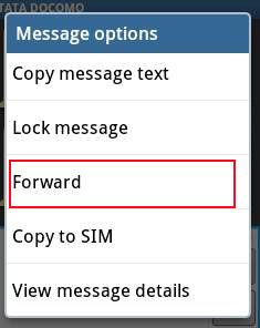 text forwarding on android