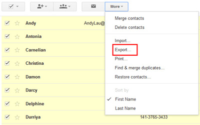 gmail contacts to vcf 02