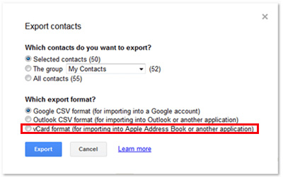 gmail contacts to vcf 03