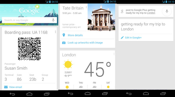 add google now cards