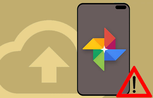 google photo backup stuck