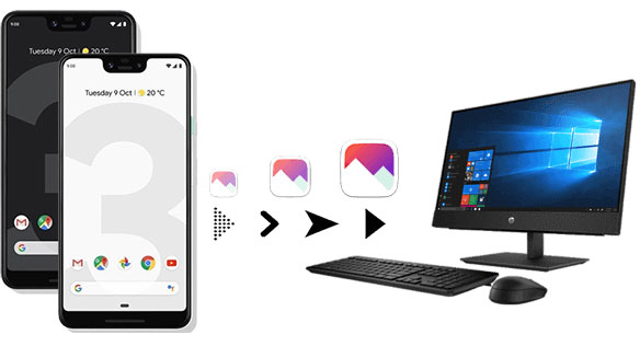 transfer photos from google pixel to computer