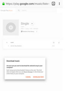 download music to lg from the webpage of google play music