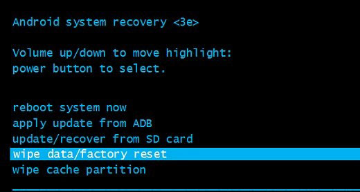 unlock a locked android device with factory reset