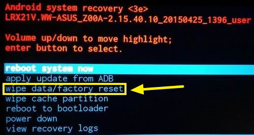 how to hard reset huawei in recovery mode