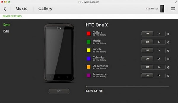 how to copy data from htc to mac via htc sync manager