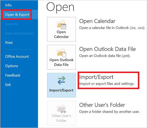 transfer csv files to outlook
