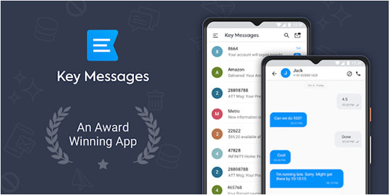 sms manager for android like key messages
