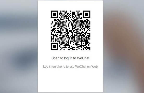 scan to login to web wechat