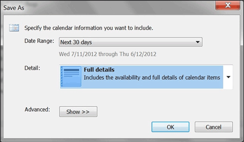 export outlook calendars to computer