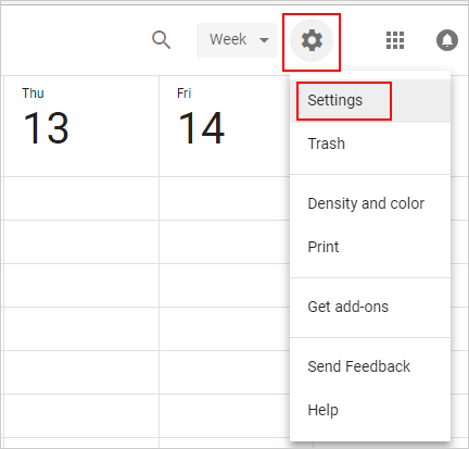 import calendars to google