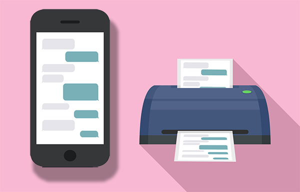 how to print text messages from lg
