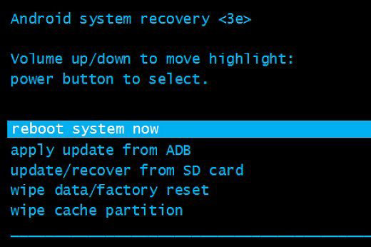 reboot system on android