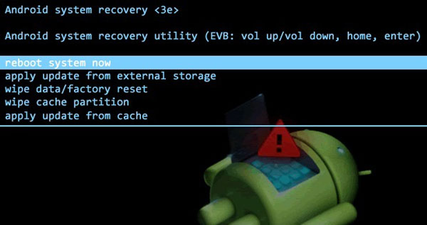 exit recovery mode on samsung galaxy