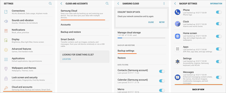 samsung cloud backup app
