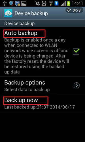 backup samsung data to cloud
