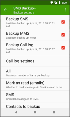 Save Text Messages on Android to PC via App - 1
