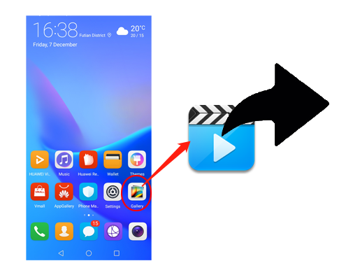 how to send large videos from android