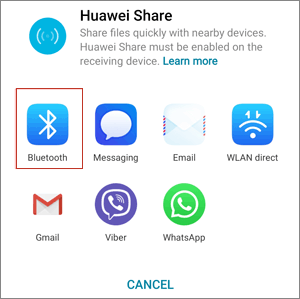 share files from huawei to mac