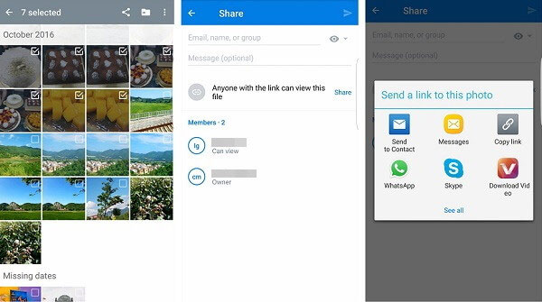 how to transfer photos from samsung to samsung with dropbox