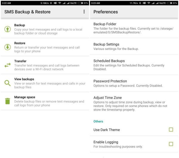 call logs backup app