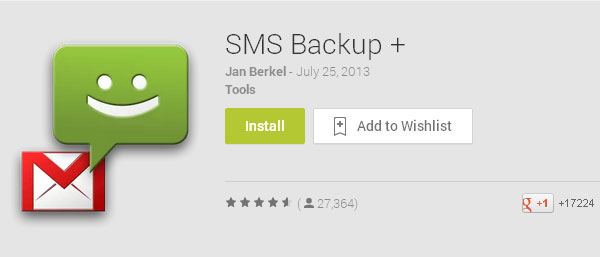launch sms backup app