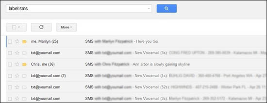check android sms on gmail