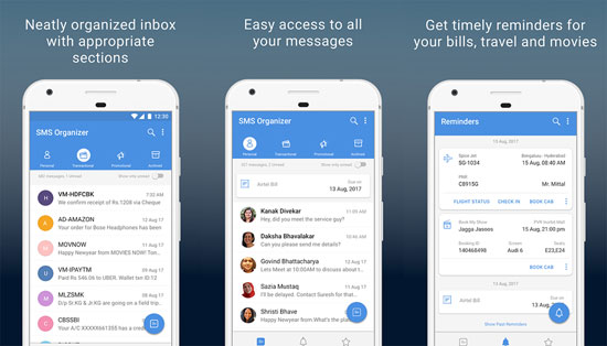 android text message manager like sms organizer