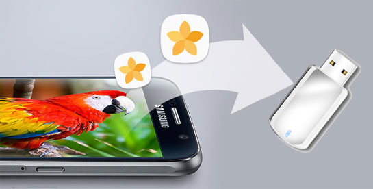transfer photos from android to flash drive